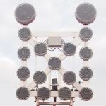 Forgalomterelő tábla LED-es lámpákkal